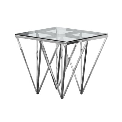 Krogman End Table Color: Silver