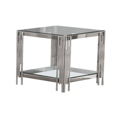 Hardesty End Table Color: Silver