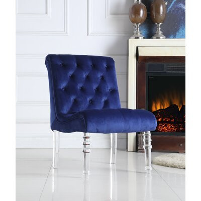 Hargis Upholstered Dining Chair Upholstery Color: Blue