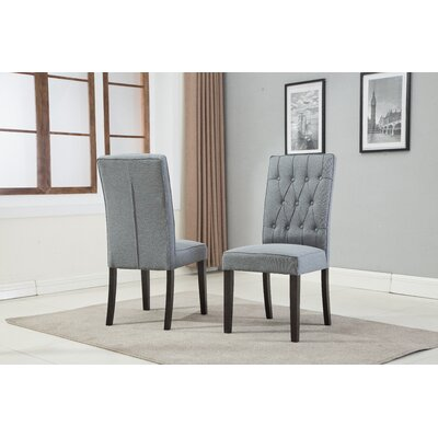 Hillen Upholstered Dining Chair Upholstery Color: Gray