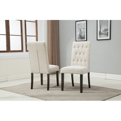 Hillen Upholstered Dining Chair Upholstery Color: Beige