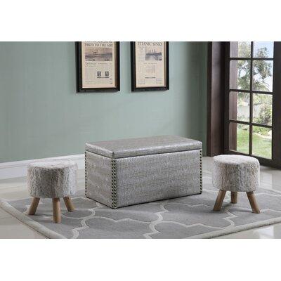 Mccleery Storage Ottoman Upholstery: Gray