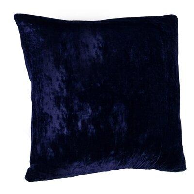 Avenelle Velvet Throw Pillow Size: 14 H x 14 W, Color: Midnight Blue
