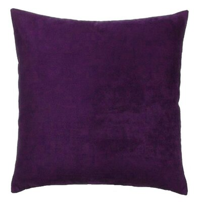 Vintage Faux Suede Throw Pillow Size: 16 H x 16 W, Color: Purple