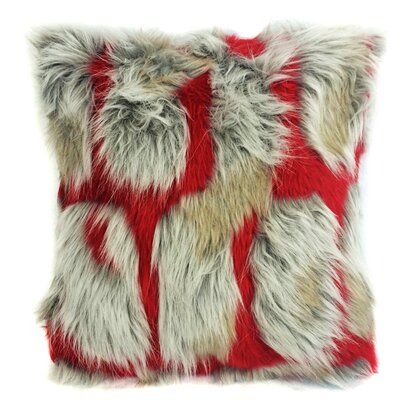 Hybrid Brick Cushion Faux Fur Throw Pillow