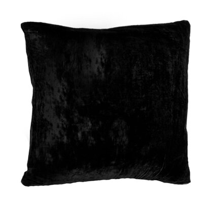 Vintage Velvet Throw Pillow Size: 16 H x 16 W, Color: Black
