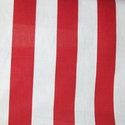 "Cotton Stripes Tablecloth Size: 70"" W x 58"" L, Color: Red / White TCstrip70red"