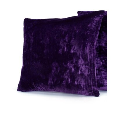 Avenelle Velvet Throw Pillow Size: 14 H x 14 W, Color: Purple