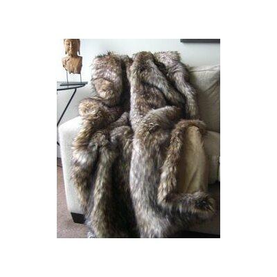 Elva Wolf Faux Fur Blanket Size: 90 L x 60 W