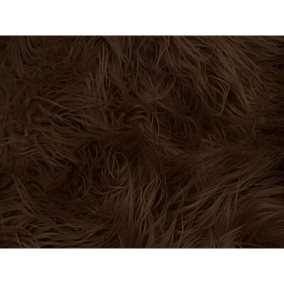 Harris Mongolian Solid Faux Fur Blanket Color: Brown