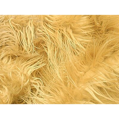 Harris Mongolian Solid Faux Fur Blanket Color: Camel