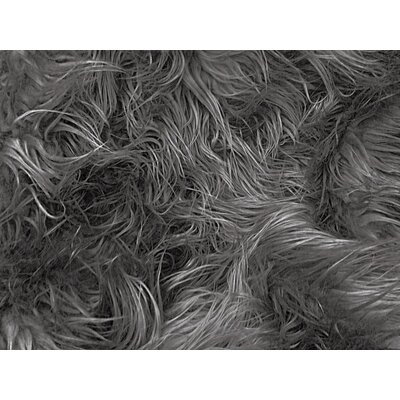 Harris Mongolian Solid Faux Fur Blanket Color: Charcoal