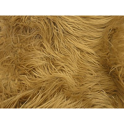 Harris Mongolian Solid Faux Fur Blanket Color: Dark Camel