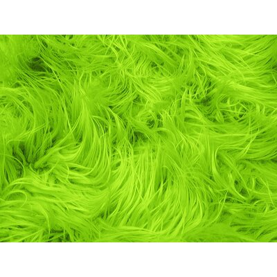 Harris Mongolian Solid Faux Fur Blanket Color: Lime