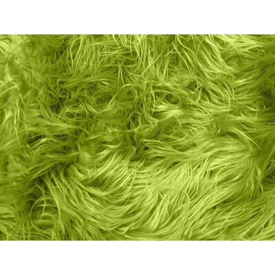 Harris Mongolian Solid Faux Fur Blanket Color: Olive Green