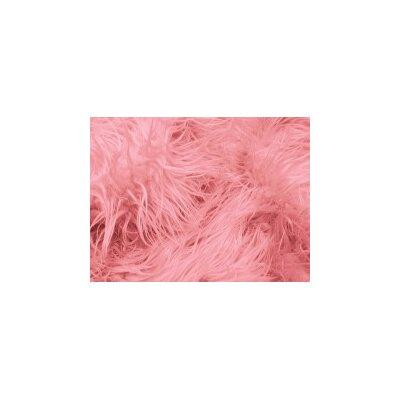 Harris Mongolian Solid Faux Fur Blanket Color: Pink