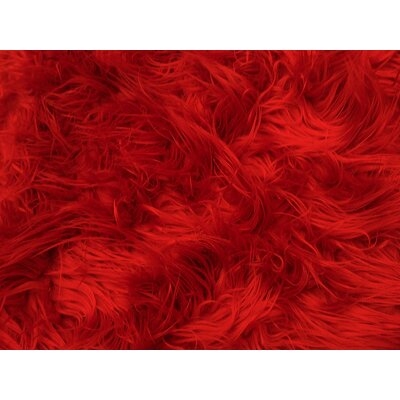 Harris Mongolian Solid Faux Fur Blanket Color: Red