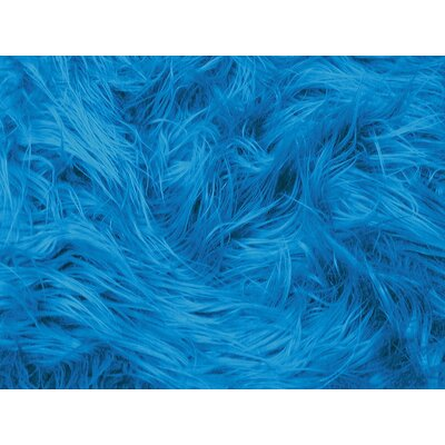 Harris Mongolian Solid Faux Fur Blanket Color: Turquoise