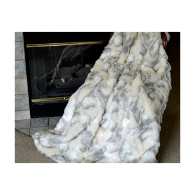 Herring Rabbit Faux Fur Blanket Size: 60 L x 36 W