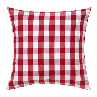 Batiste Plaid Checkered Throw Pillow Color: Red, Size: 14 H x 14 W