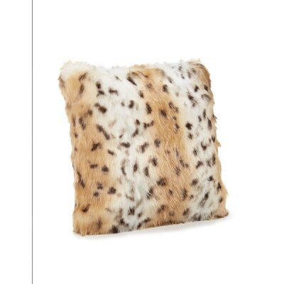 Nathaniel Faux Fur Siberian Leopard Throw Pillow Size: 16 x 16