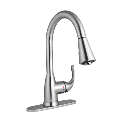 Single Handle Deck Mounted Pull Down Kitchen Faucet