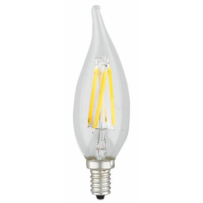 Flame Tip 2W E12 LED Light Bulb Wattage: 4W