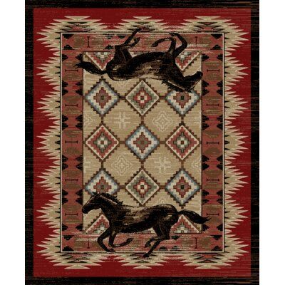 Vacation Lexington Red Area Rug Rug Size: 5 x 8