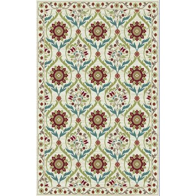 Brighten Cream Area Rug Rug Size: 5 x 8
