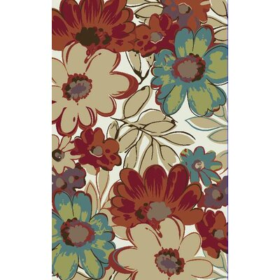 Brighten Cream Area Rug Rug Size: 8 x 10