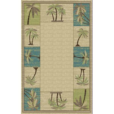 Brighten Tan Area Rug Rug Size: 5 x 8