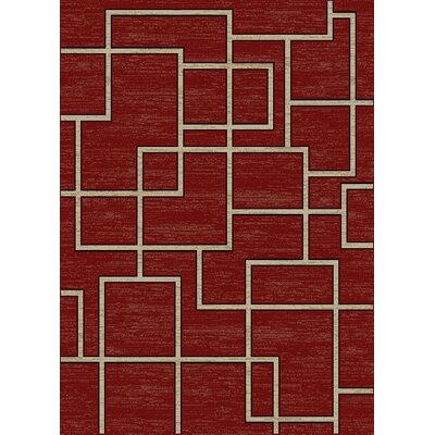 Hawtree Claret Red Area Rug Rug Size: Rectangle 710 x 910