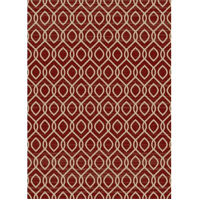 Idlewild Claret Red Area Rug Rug Size: Rectangle 53 x 73
