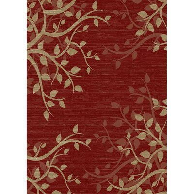 Calliope Claret Red Area Rug Rug Size: Rectangle 53 x 73
