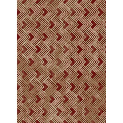 Idlewild Pyramid Claret Beige/Red Area Rug Rug Size: Rectangle 53 x 73