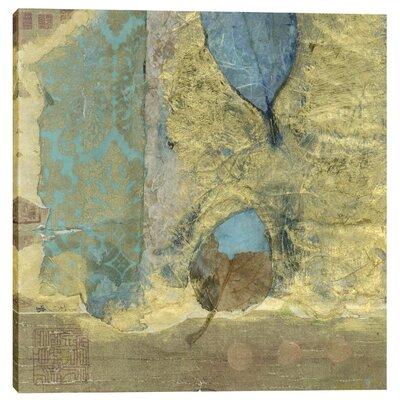 "Wabi-Sabi Leaf"" by Elena Ray Graphic Art on Canvas Size: 12"" H x 12"" W x 0.75"" D EPIC-CA1212258"