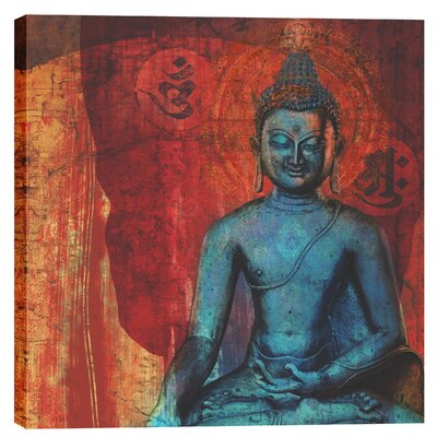 "Blue Buddha"" by Elena Ray Graphic Art on Canvas EPIC-CA2626249"