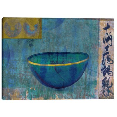 "Blue Bowl"" by Elena Ray Graphic Art on Canvas EPIC-CA1218247"