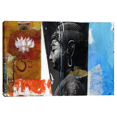 "Angel Buddha"" by Elena Ray Graphic Art on Canvas Size: 12"" H x 18"" W x 0.75"" D EPIC-CA1218259"