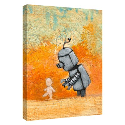 'Bot Baby' Giclee Acrylic Painting Print on Canvas Size: 18