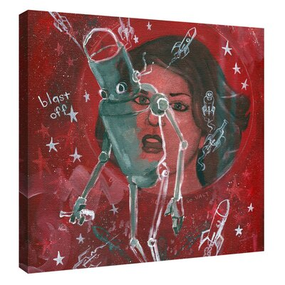 'Blast Off' Giclee Acrylic Painting Print on Canvas Size: 12