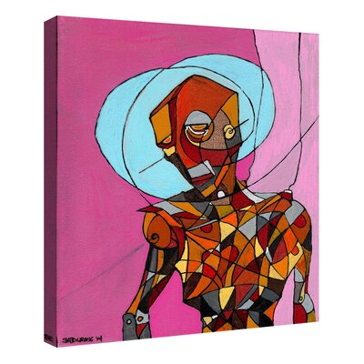 'Segmented Man' Giclee Acrylic Painting Print on Canvas Size: 16