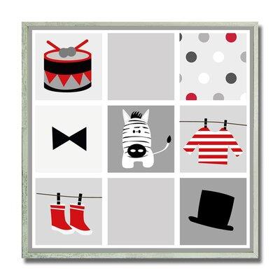 Pipkin Baby Zebra Kid's Framed Decorative Plaque HRBE1083 43888648