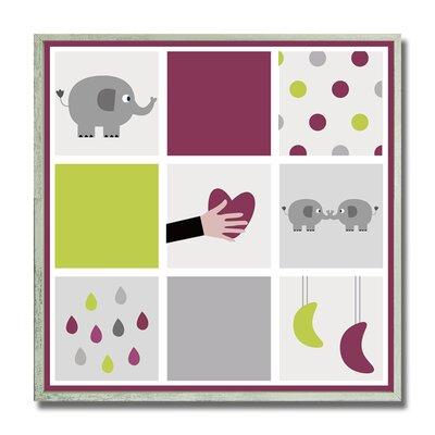 Pollak Baby Elephant Kid's Framed Decorative Plaque HRBE1085 43888650