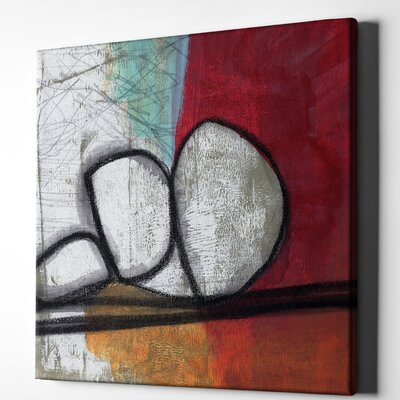 'Red Abstract' Acrylic Painting Print on Wrapped Canvas Size: 18