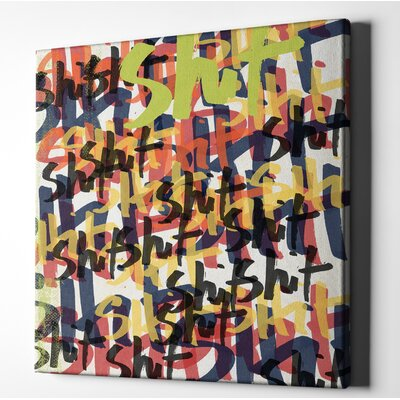 'Tantrum' Textual Art on Wrapped Canvas Size: 12