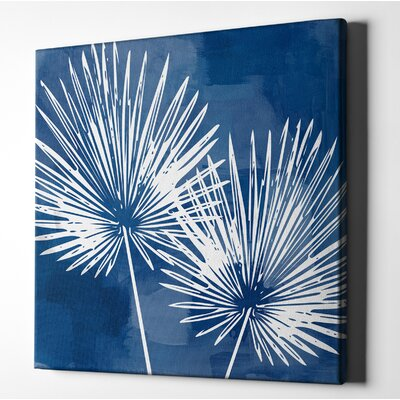 'Painted Sky Palms' Acrylic Painting Print on Wrapped Canvas Size: 12