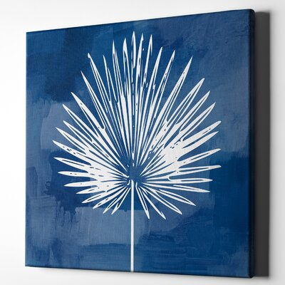 'Painted Sky Palm Leaf' Acrylic Painting Print on Wrapped Canvas Size: 12