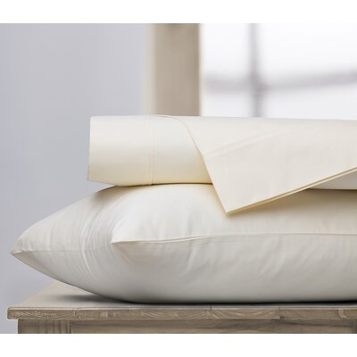 400 Thread Count 100% Cotton Sheet Set Color: Ivory, Size: King