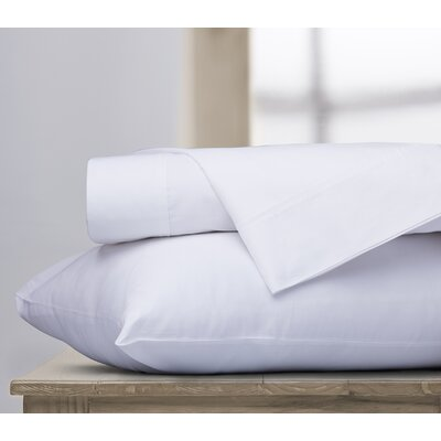 400 Thread Count 100% Cotton Sheet Set Color: White, Size: Queen